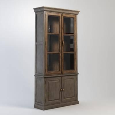 美式置物柜, 复古, 美式书柜, 置物柜, 书柜, 美式