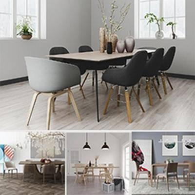 椅子, 桌椅组合, 合集, 北欧, 模型合集