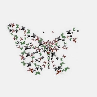 蝴蝶, 墙饰, 装饰品, 现代简约