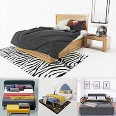模型合集, 床具, 现代简约, 床, 床具合集