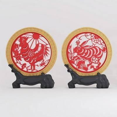 新年装饰品, 摆件, 装饰品, 中式
