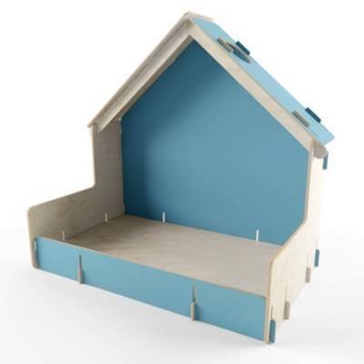 现代简约, 木艺, 狗屋, 现代木艺