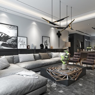 北欧简约现代客厅
