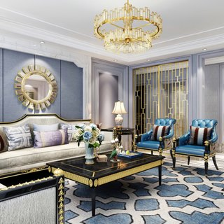 欧式后现代客厅