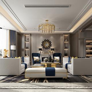 欧式简约现代客厅