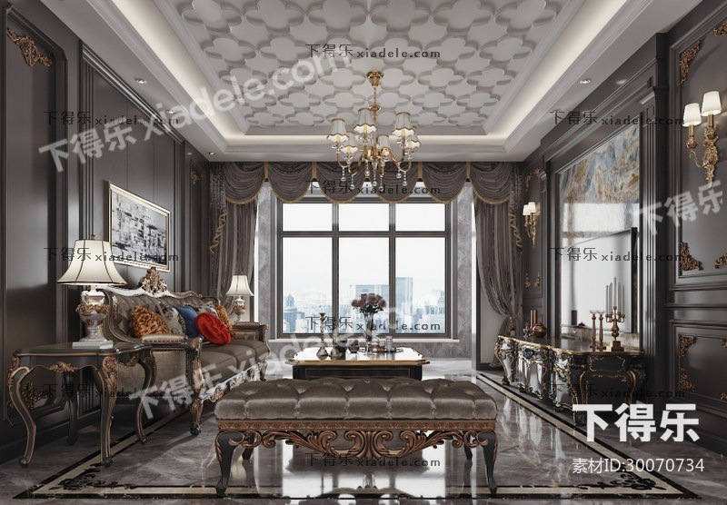 欧式现代古典客厅