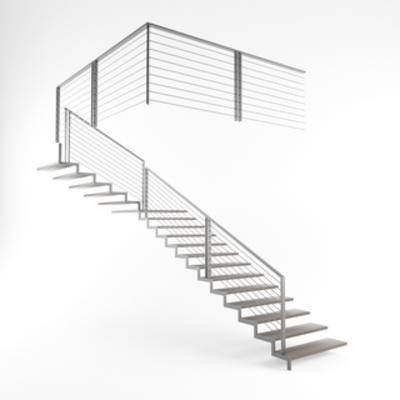 楼梯, 构件, 现代楼梯