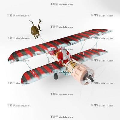 圣诞, 玩具, 摆件, 陈设品, 飞机, 现代