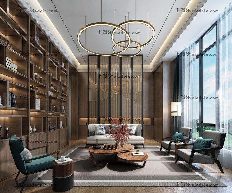 新中式现代客厅