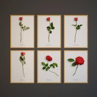 鲜花, 挂画, 装饰画, 墙饰, 现代
