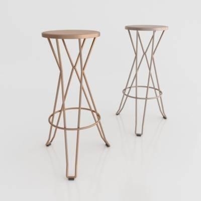 单人椅子, 北欧简约, 吧椅, 椅子