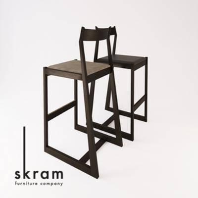 Corana, 北欧, 北欧椅子, 椅子, 工业风, 吧椅