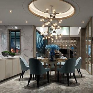 沙发茶几组合,桌椅组合,现代简约,餐厅,客厅,新中式