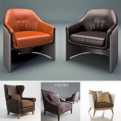 模型合集, 现代简约, 单人沙发, 沙发