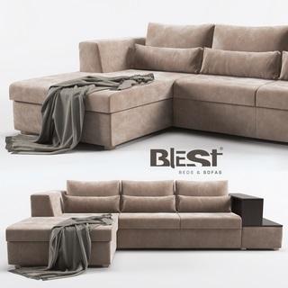 现代简约L型多人沙发