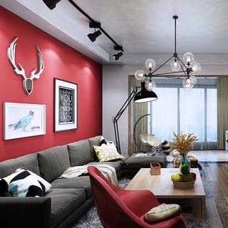 吊灯,沙发茶几组合,桌椅组合,现代简约,客厅,北欧简约