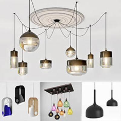 模型合集, 现代简约, 吊灯