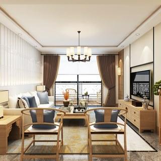 吊灯,椅子,沙发茶几组合,现代,客厅,新中式