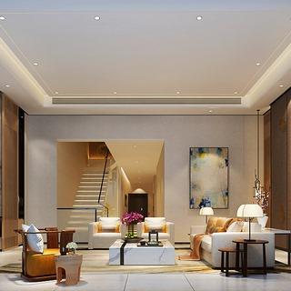 沙发茶几组合,台灯,现代,客厅,新中式