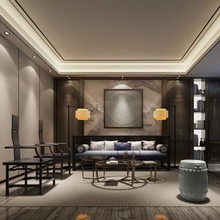 椅子,沙发茶几组合,现代,客厅,新中式