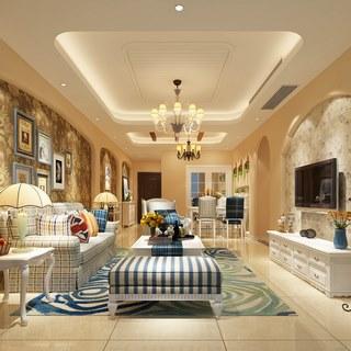 沙发茶几组合,客厅,地中海,田园风格,陈设品组合