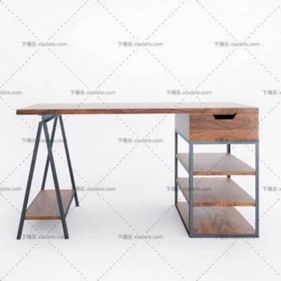 现代简约, 桌子, 办公桌