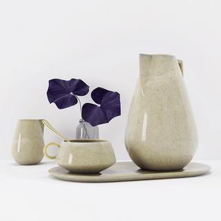 植物,现代简约,瓷器,陈设品组合