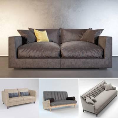 模型合集, 现代简约, 多人沙发, 沙发