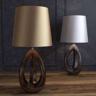 床头灯, 灯, 美式, 台灯