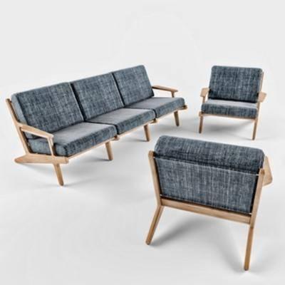 北美沙发, 北美, 工业风格, 沙发