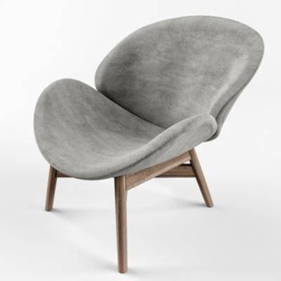 欧式简约, 单人椅, 欧式椅子, 椅子