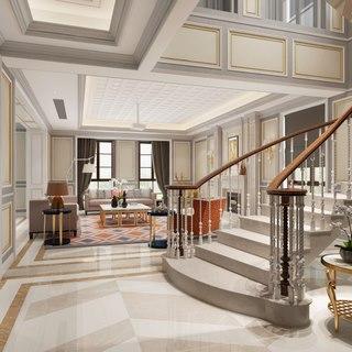 欧式,沙发茶几组合,别墅,客厅,楼梯,陈设品