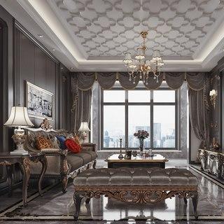 吊灯,欧式,沙发茶几组合,古典,现代,客厅,陈设品
