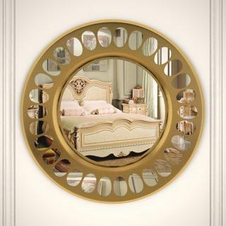 金属,美式,镜子,圆镜
