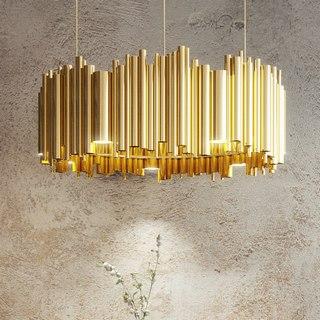 吊灯,现代吊灯,现代简约,金色