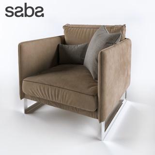单人沙发,咖啡色,Corona,意大利CADA,利文斯顿椅