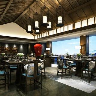 吊灯,中式,桌椅组合,古典,餐厅,餐具