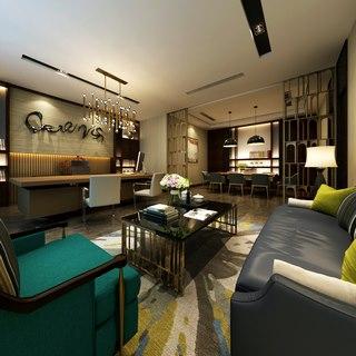 沙发,桌椅组合,现代简约,陈设品,经理室