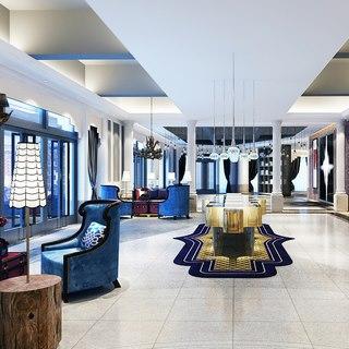 沙发茶几组合,现代简约,展览,陈设品,会客区