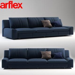 意大利Arflex现代简约蓝色沙发