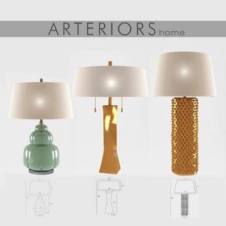 台灯,现代简约,现代台灯,美国arteriors