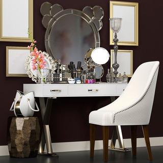 欧式,台灯,组合,镜子,梳妆台