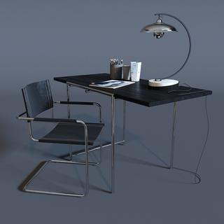台灯,桌椅组合,现代简约,办公桌