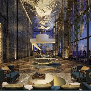 现代奢华酒店大堂