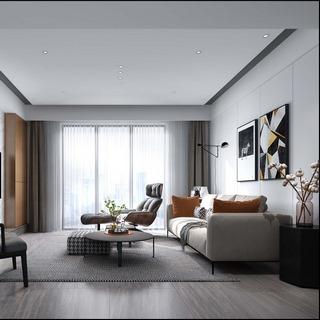 沙发茶几组合,现代简约,客厅,置物柜,陈设品组合