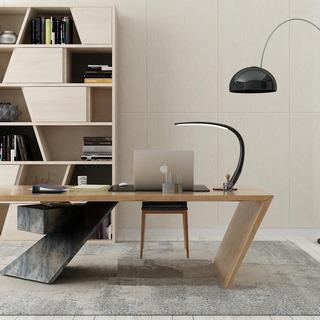 现代简约,书桌椅组合,书柜组合