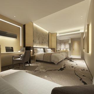 桌椅组合,新中式,床具组合,酒店客房