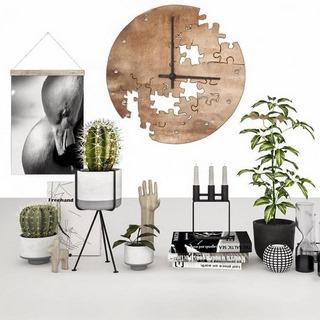 北欧简约,陈设品组合,植物盆栽,摆件组合
