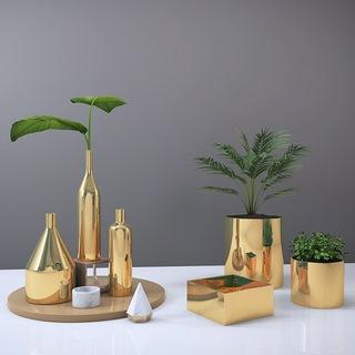 植物,金属,后现代,摆件组合