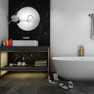 浴室,后现代,浴缸组合